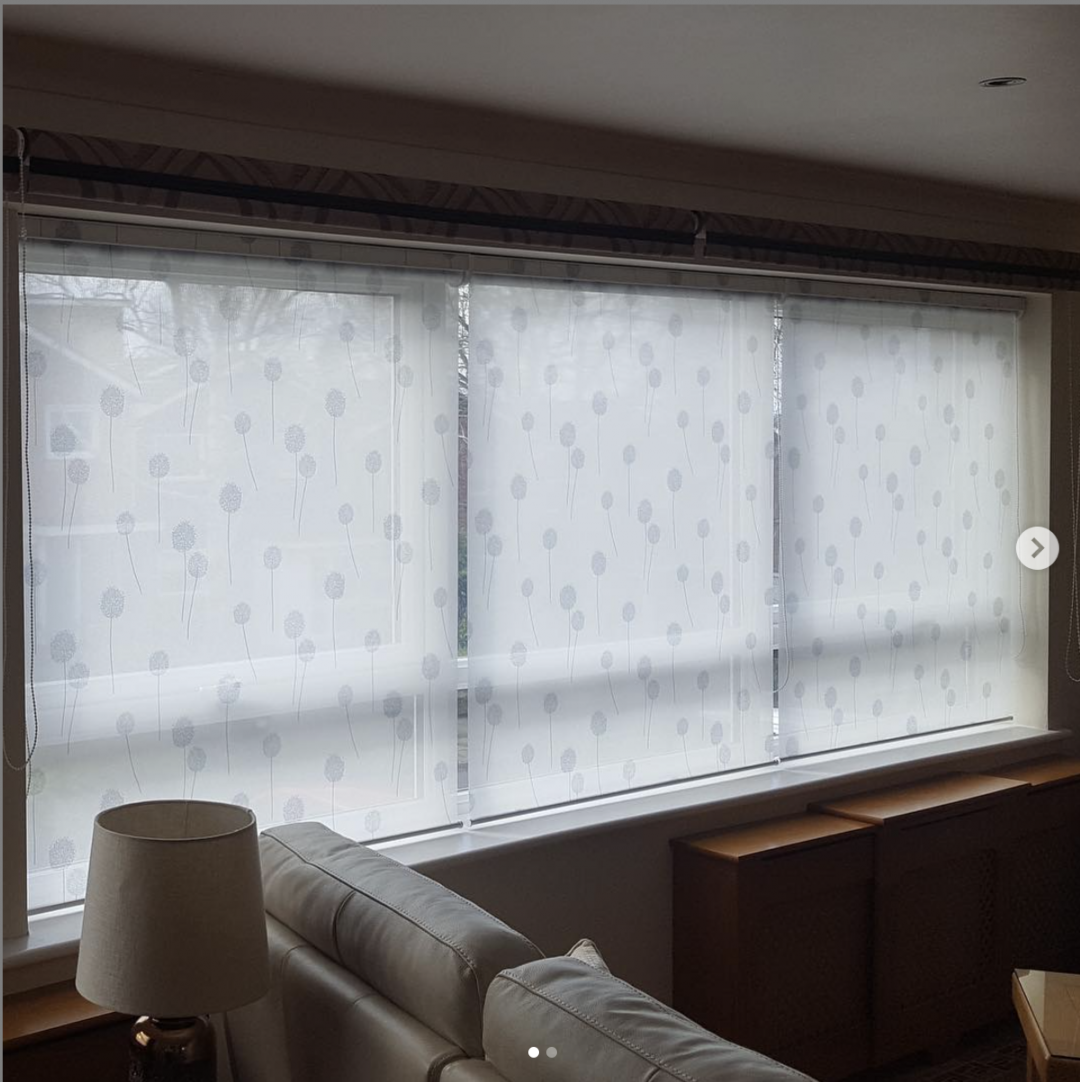 Voile roller blinds