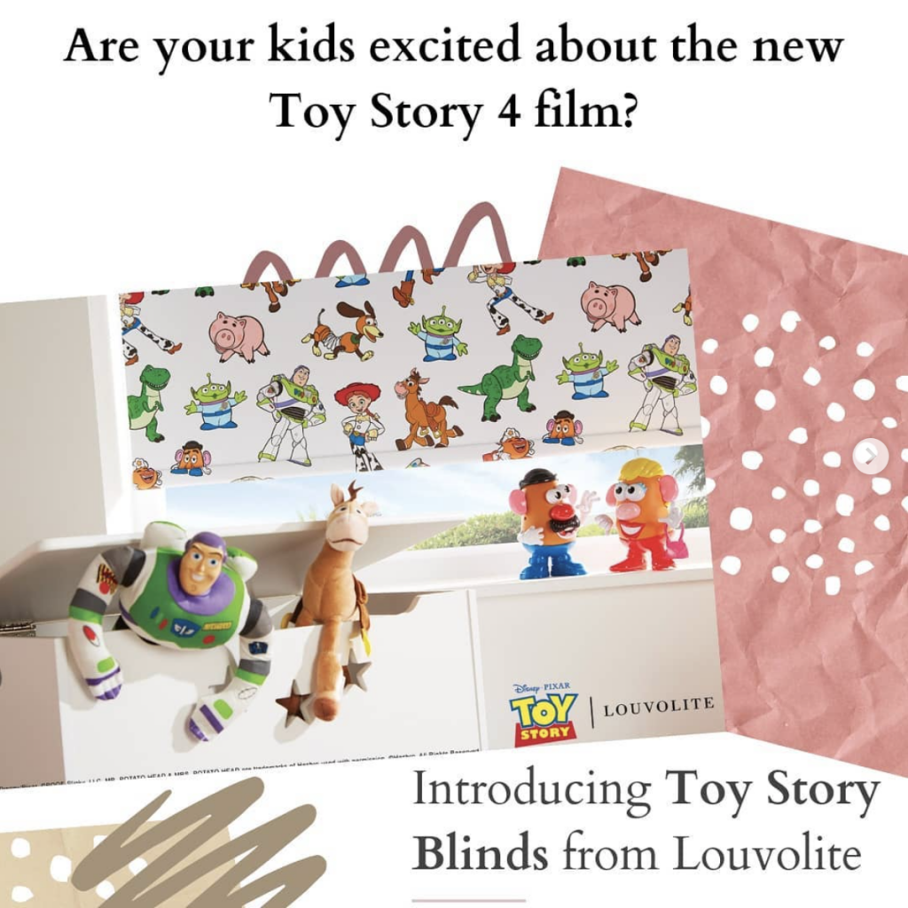 Toy Story fabric Blinds