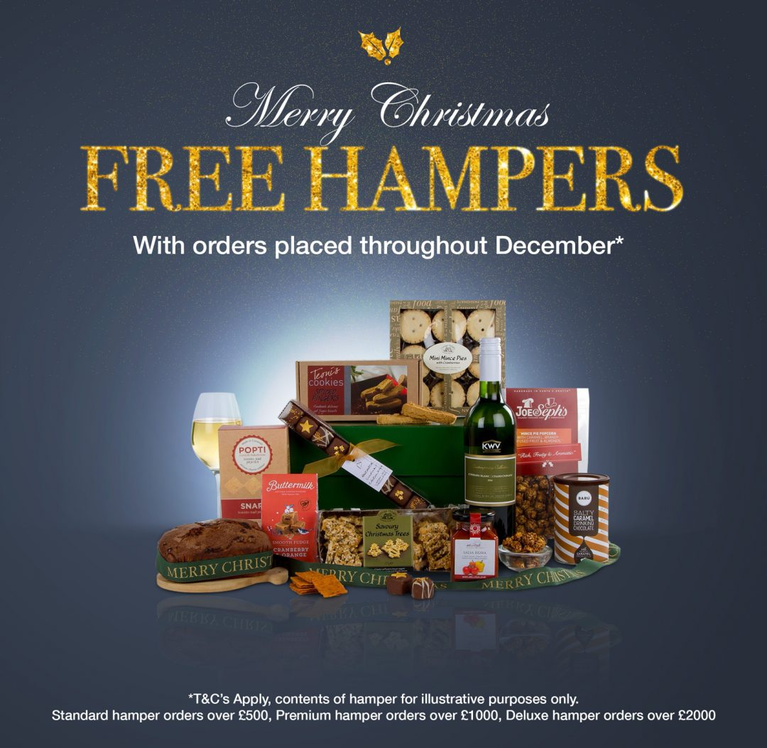 FREE Hampers with orders placed throughout December