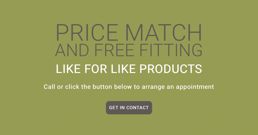 Price match and free fitting