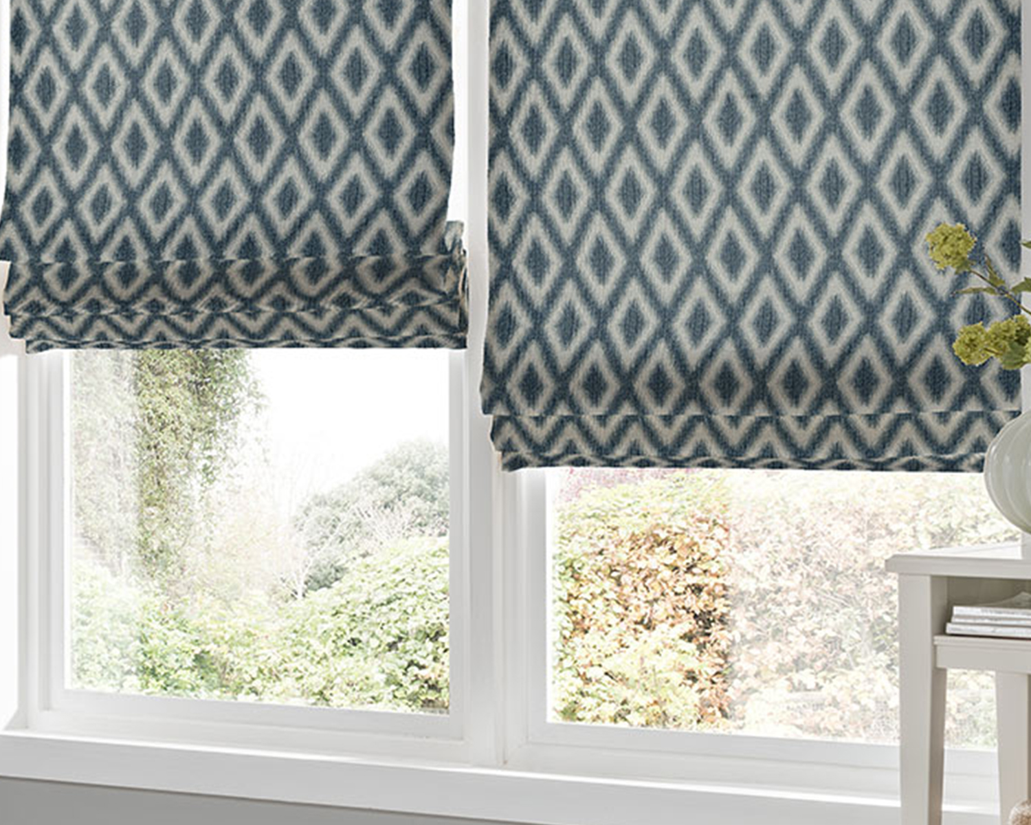 Parallel Roman Blinds