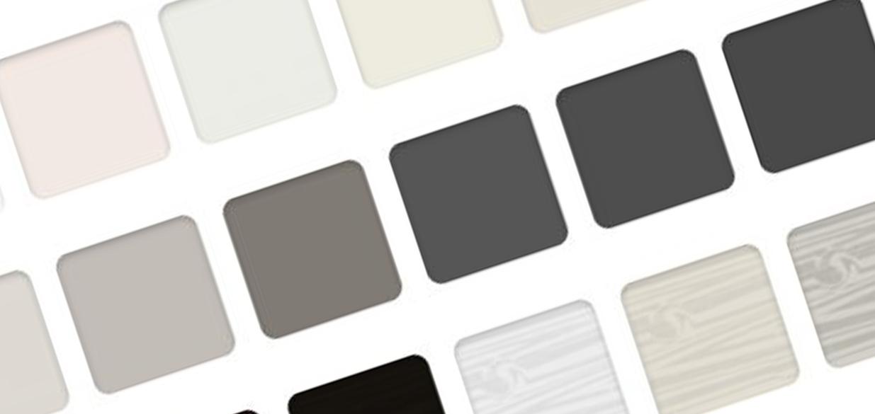 Shutter colour ranges