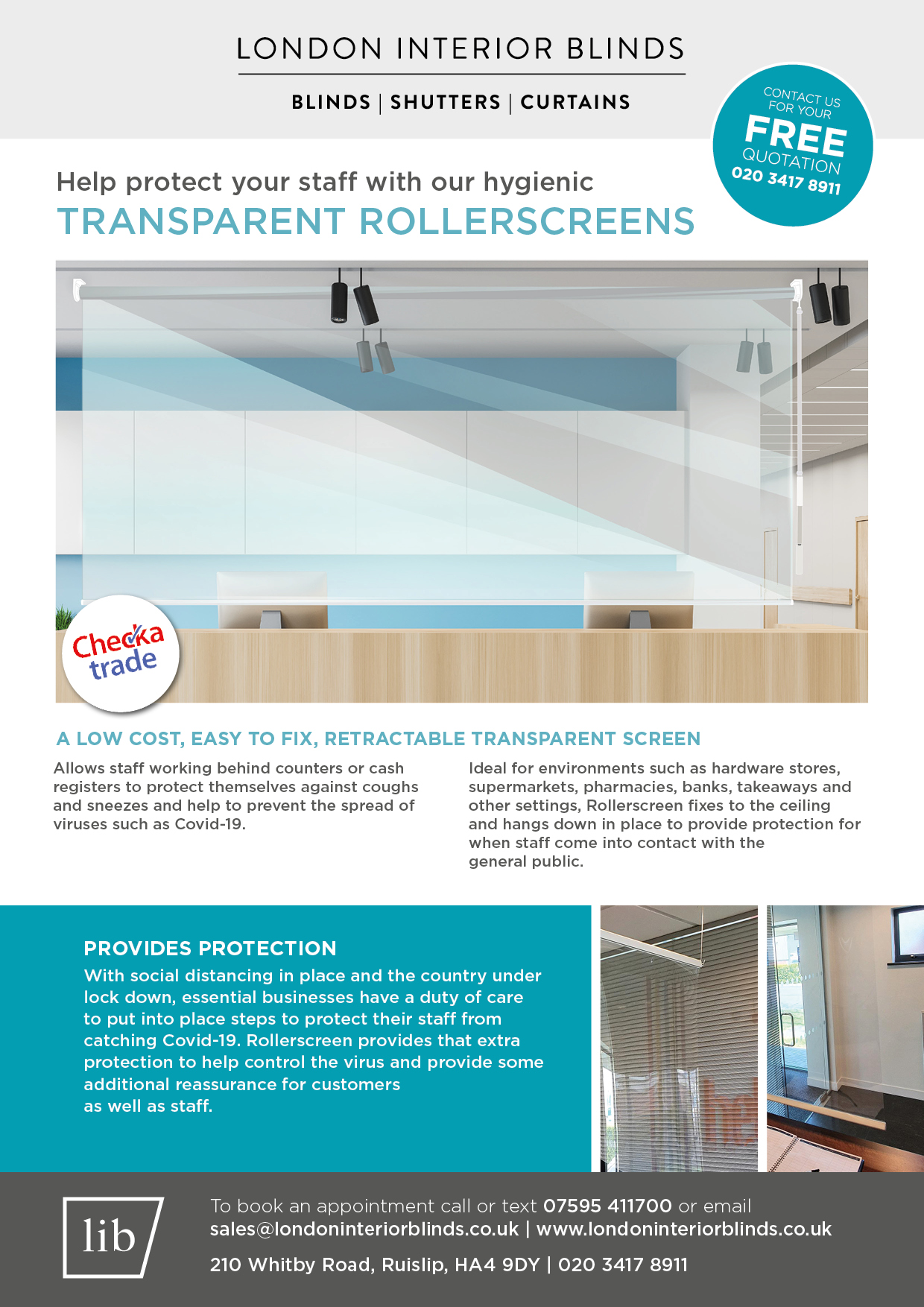 LIB Protection rollerscreen